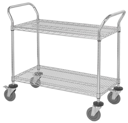 View our large selection of utility wire carts with wheels. Our wire carts are made to be utilized for different purposes. They are easy to handle for ...  sc 1 st  JustShelfit.com Your Shelving Racks For Storage Solution Website ... & Wire Carts With Wheels Racks Units u2013 Rolling Wire Cart On Wheels For ...